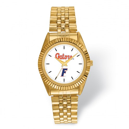 Florida Gators Pro Gold Tone Gents Watch