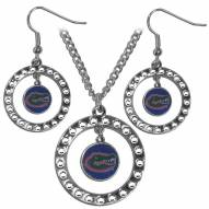 Florida Gators Rhinestone Hoop Jewelry Set