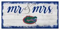 Florida Gators Script Mr. & Mrs. Sign