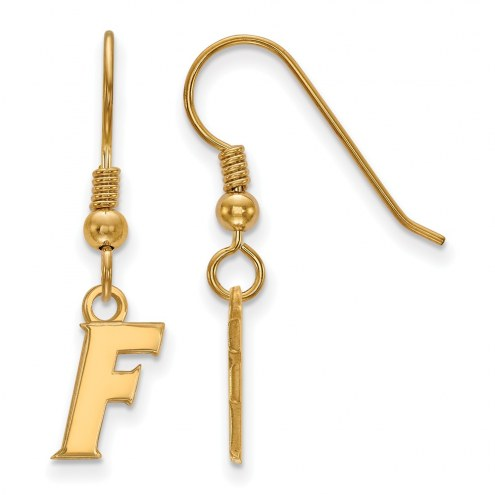 Florida Gators Sterling Silver Gold Plated Extra Small Dangle Earrings