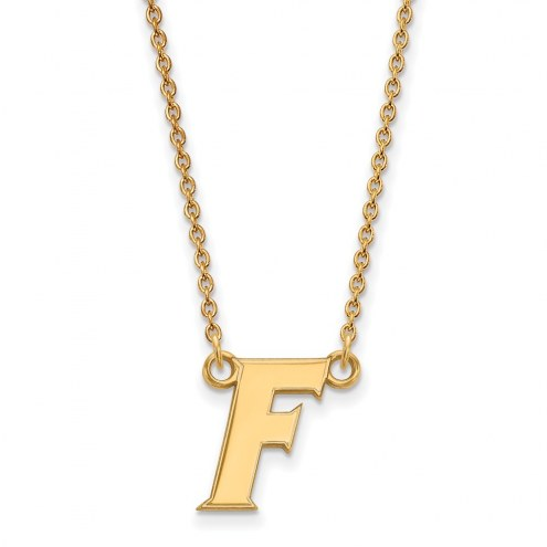 Florida Gators Sterling Silver Gold Plated Small Pendant Necklace