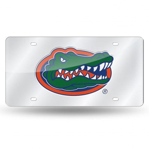 Florida Gators Silver Laser License Plate