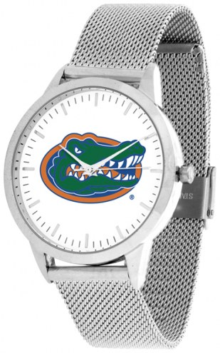 Florida Gators Silver Mesh Statement Watch