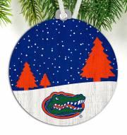 Florida Gators Snow Scene Ornament