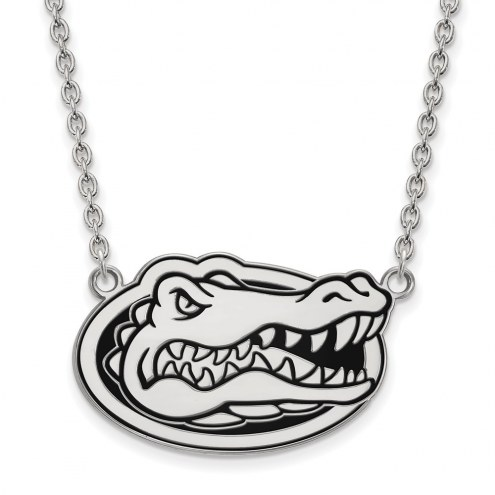 Florida Gators Sterling Silver Large Enameled Pendant Necklace