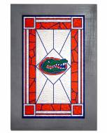 Florida Gators Stained Glass with Frame