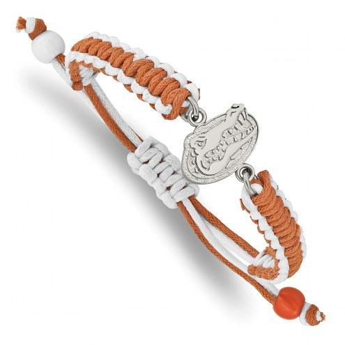 Florida Gators Stainless Steel Adjustable Cord Bracelet