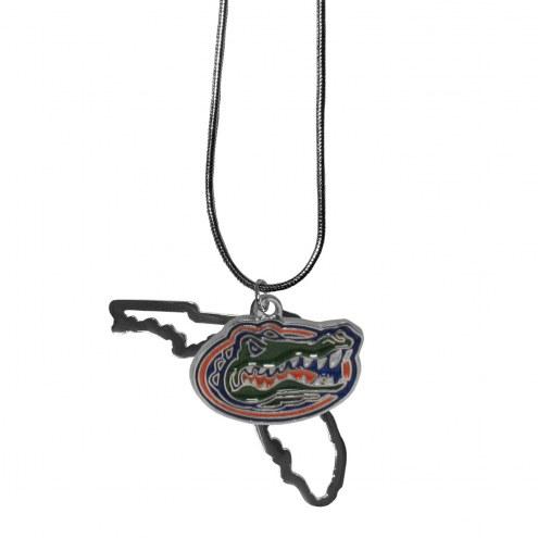 Florida Gators State Charm Necklace