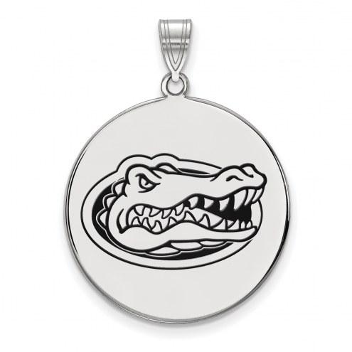 Florida Gators Sterling Silver Extra Large Enameled Disc Pendant