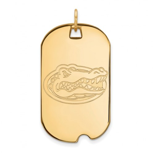 Florida Gators Sterling Silver Gold Plated Large Dog Tag