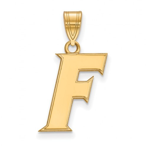 Florida Gators Sterling Silver Gold Plated Medium Pendant