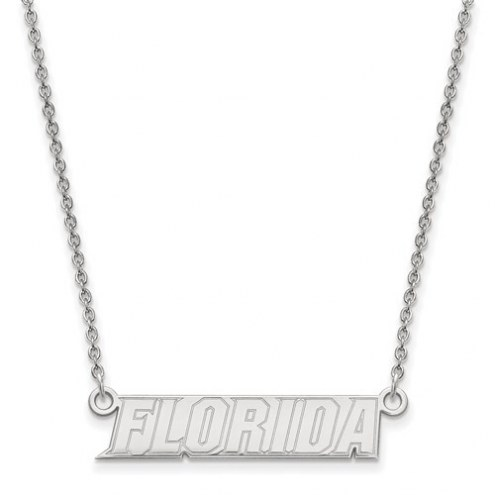 Florida Gators Sterling Silver Small Pendant with Necklace