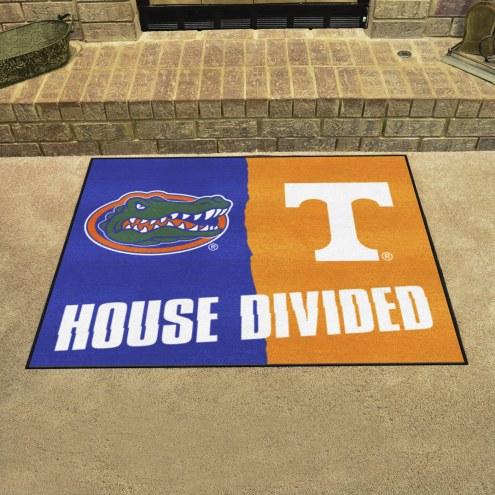 Florida Gators/Tennessee Volunteers House Divided Mat