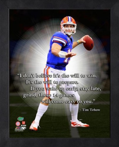Florida Gators Tim Tebow NCAA Framed Pro Quote