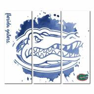 Florida Gators Triptych Watercolor Canvas Wall Art