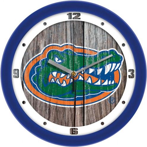 Florida Gators Weathered Wall Clock