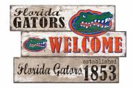Florida Gators Welcome 3 Plank Sign