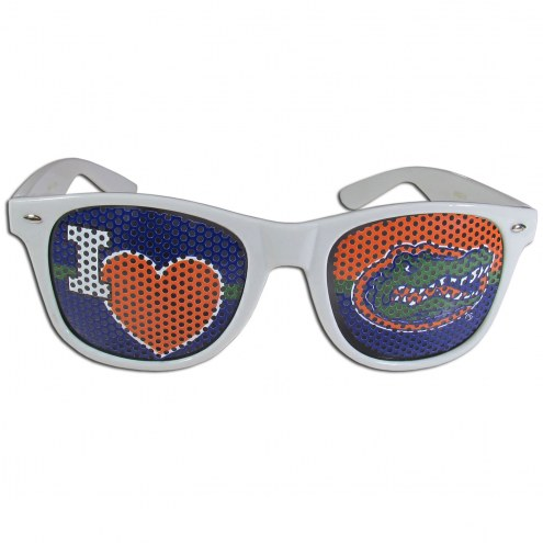 Florida Gators White I Heart Game Day Shades