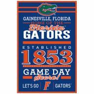 Florida Gators Established Wood Sign