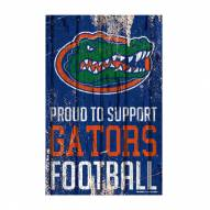 Florida Gators Proud to Support Wood Sign
