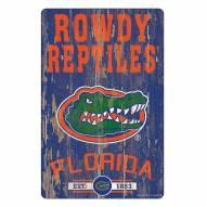 Florida Gators Slogan Wood Sign