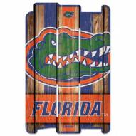 Florida Gators Wood Fence Sign