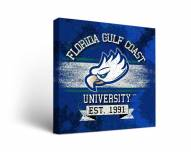 Florida Gulf Coast Eagles Banner Canvas Wall Art