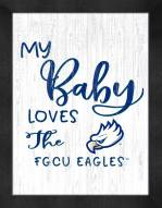 Florida Gulf Coast Eagles My Baby Loves Framed Print