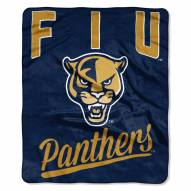 Florida International Golden Panthers Alumni Raschel Throw Blanket
