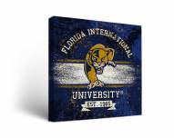 Florida International Golden Panthers Banner Canvas Wall Art