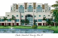 Florida International Golden Panthers Campus Images Lithograph