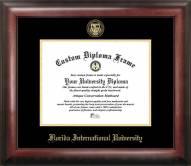 Florida International Golden Panthers Gold Embossed Diploma Frame