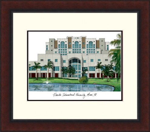 Florida International Golden Panthers Legacy Alumnus Framed Lithograph