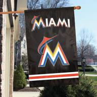Miami Marlins Applique 2-Sided Banner Flag