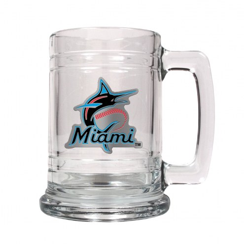 Florida Marlins MLB 2-Piece Glass Tankard Beer Mug Set