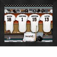 Miami Marlins Personalized Locker Room 11 x 14 Framed Photograph