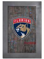 "Florida Panthers 11"" x 19"" City Map Framed Sign"