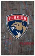 """Florida Panthers 11"""" x 19"""" City Map Sign"""