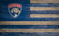 "Florida Panthers 11"" x 19"" Distressed Flag Sign"