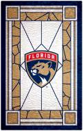 """Florida Panthers 11"""" x 19"""" Stained Glass Sign"""