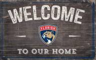 """Florida Panthers 11"""" x 19"""" Welcome to Our Home Sign"""