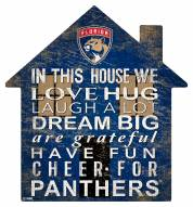 """Florida Panthers 12"""" House Sign"""