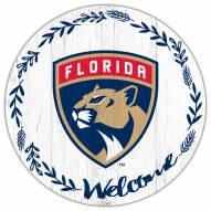 "Florida Panthers 12"" Welcome Circle Sign"