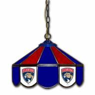 "Florida Panthers 14"" Glass Pub Lamp"