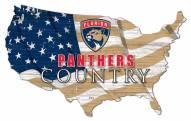 """Florida Panthers 15"""" USA Flag Cutout Sign"""
