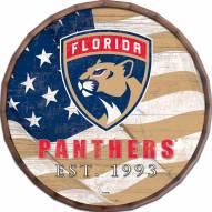 """Florida Panthers 16"""" Flag Barrel Top"""