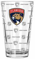 Florida Panthers 16 oz. Sandblasted Pint Glass
