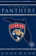 """Florida Panthers 17"""" x 26"""" Coordinates Sign"""