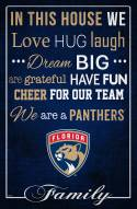"""Florida Panthers 17"""" x 26"""" In This House Sign"""