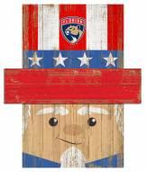 "Florida Panthers 19"" x 16"" Patriotic Head"